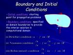 boundary and initial conditions