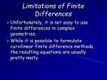 limitations of finite differences