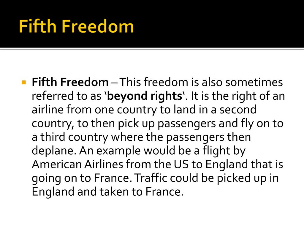 Fifth Freedom