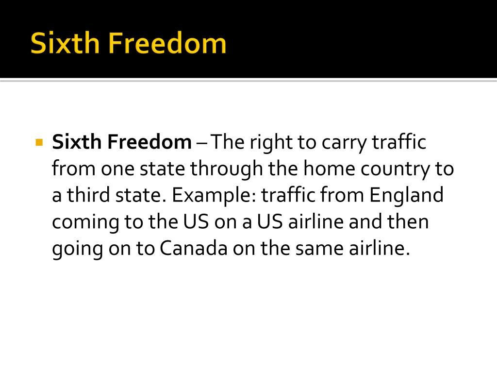Sixth Freedom