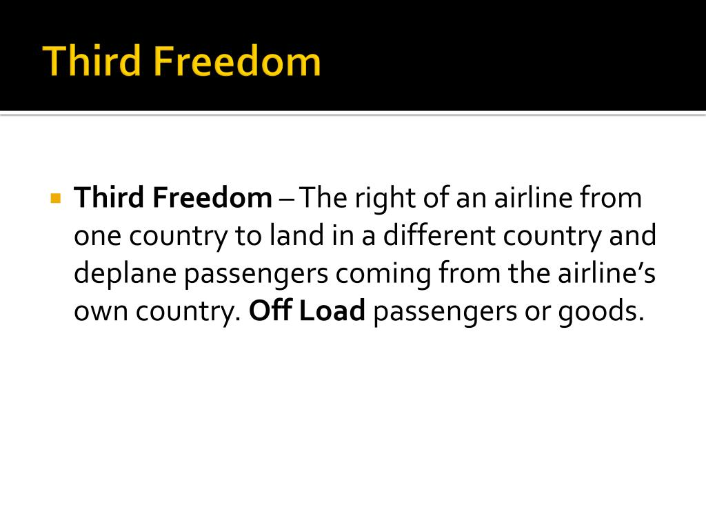 Third Freedom