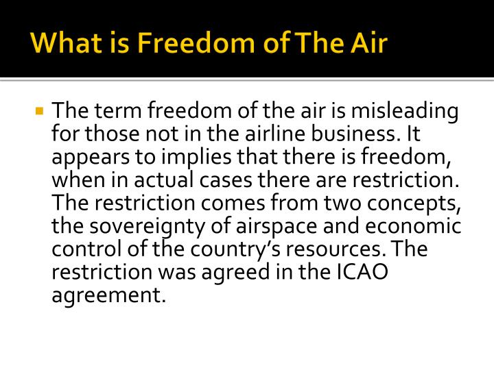 What is freedom of the air