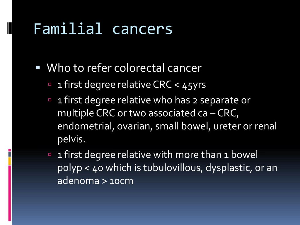 Familial cancers