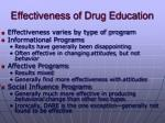 effectiveness of drug education