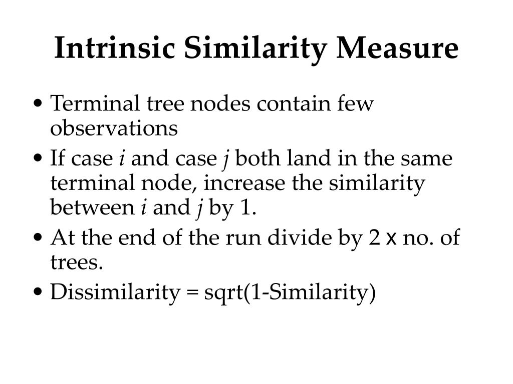 Intrinsic Similarity Measure