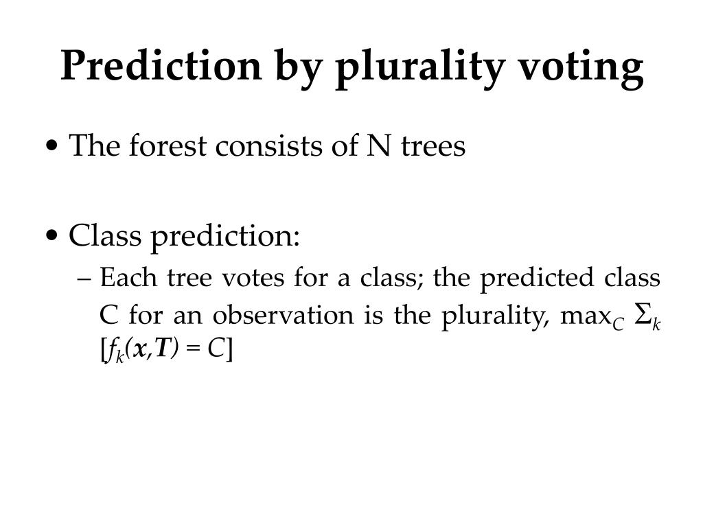 Prediction by plurality voting