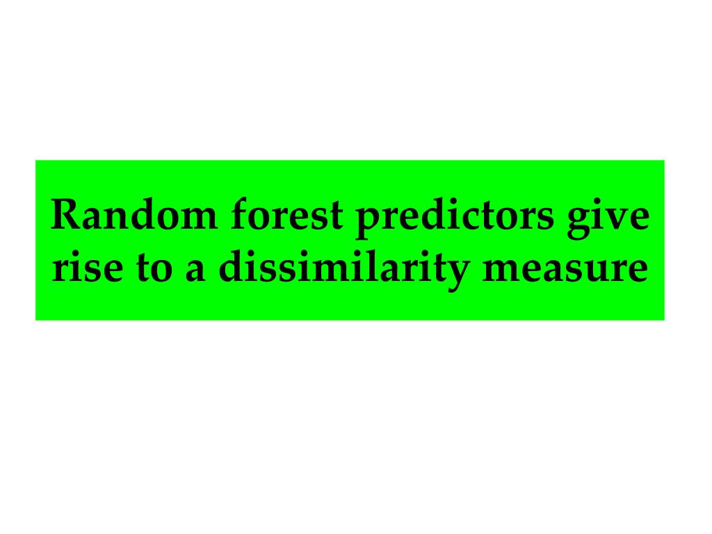 Random forest predictors give rise to a dissimilarity measure
