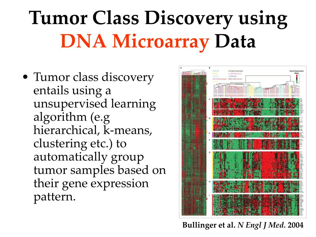 Tumor Class Discovery using