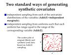 two standard ways of generating synthetic covariates