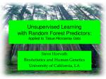 unsupervised learning with random forest predictors applied to tissue microarray data