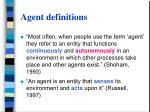 agent definitions