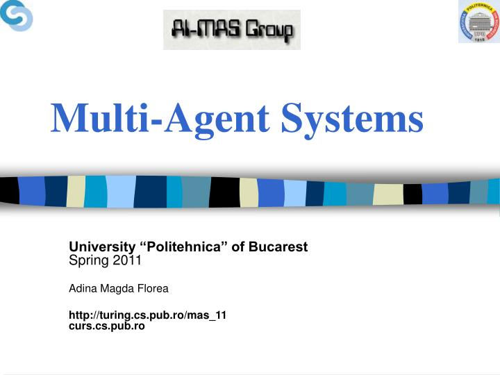 multi agent systems n.