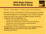 nida basic science review work group