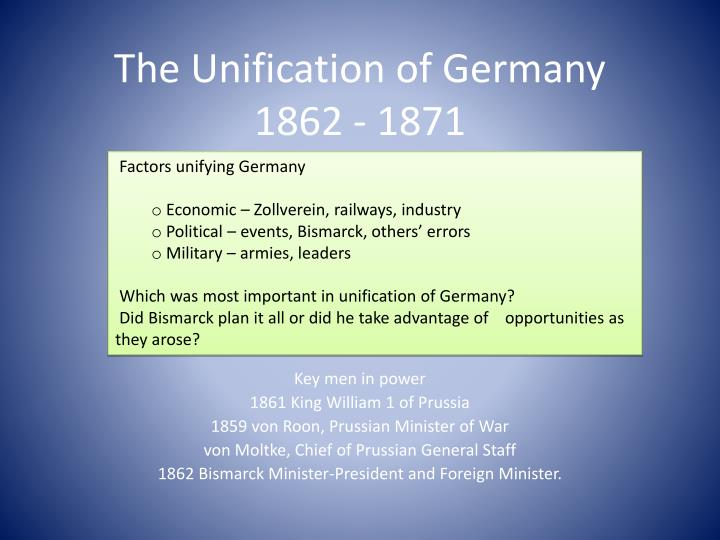 the unification of germany 1862 1871 n.