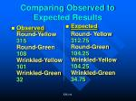 comparing observed to expected results