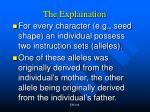 the explaination