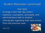 student motivation continued1