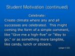 student motivation continued2