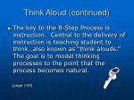 think aloud continued