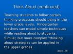 think aloud continued1