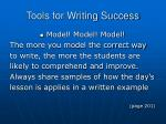 tools for writing success