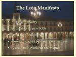 the le n manifesto