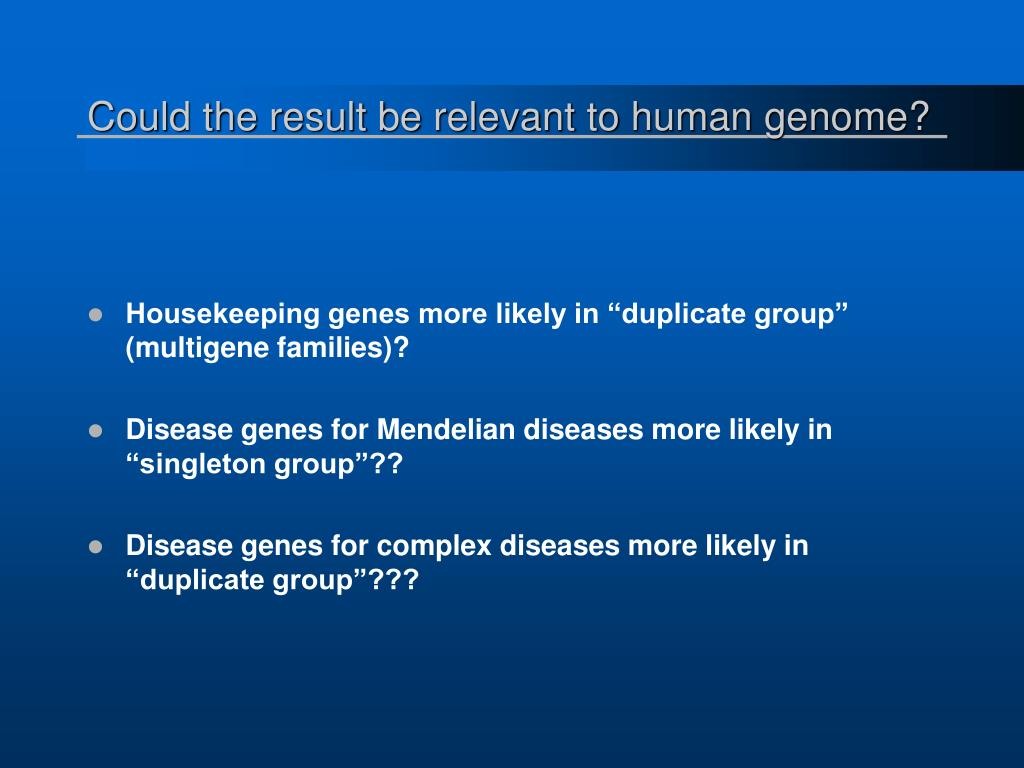 Could the result be relevant to human genome?