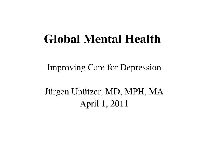 global mental health n.