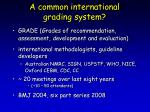 a common international grading system