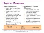 physical measures