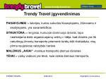 trendy travel gyvendinimas