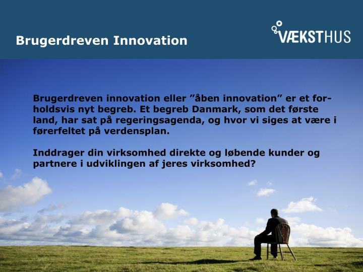 brugerdreven innovation n.