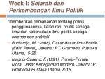 week i sejarah dan perkembangan ilmu politik