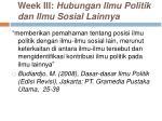 week iii hubungan ilmu politik dan ilmu sosial lainnya