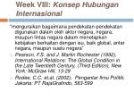 week viii konsep hubungan internasional