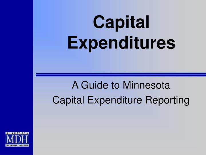 capital expenditures n.