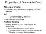 properties of dialyzable drug