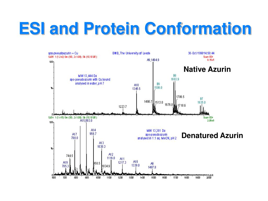 ESI and Protein Conformation