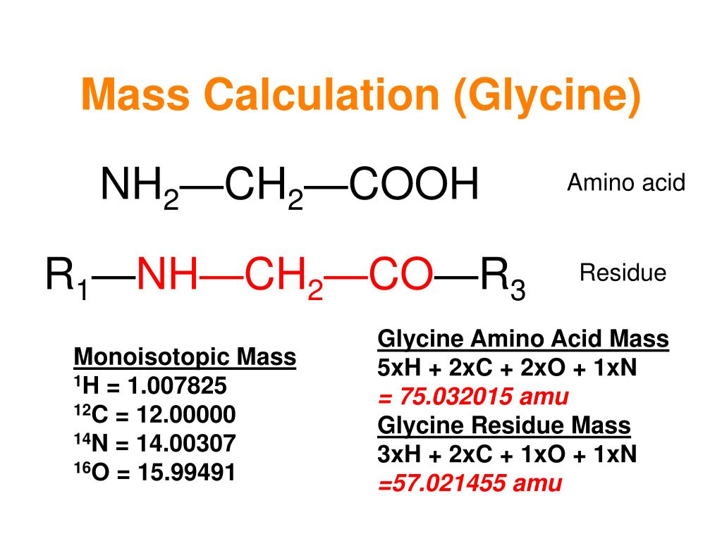 Mass Calculation (Glycine)