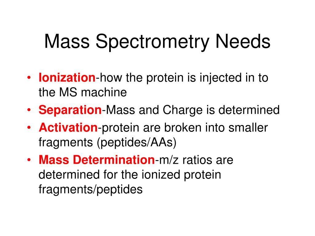 Mass Spectrometry Needs