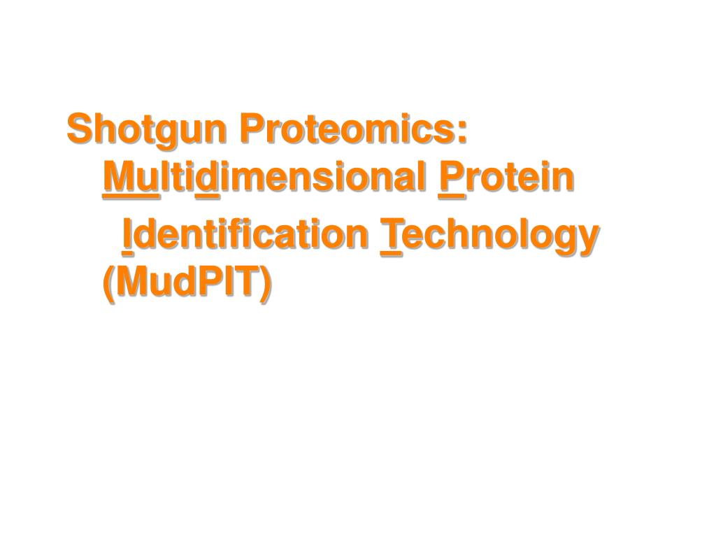 Shotgun Proteomics: