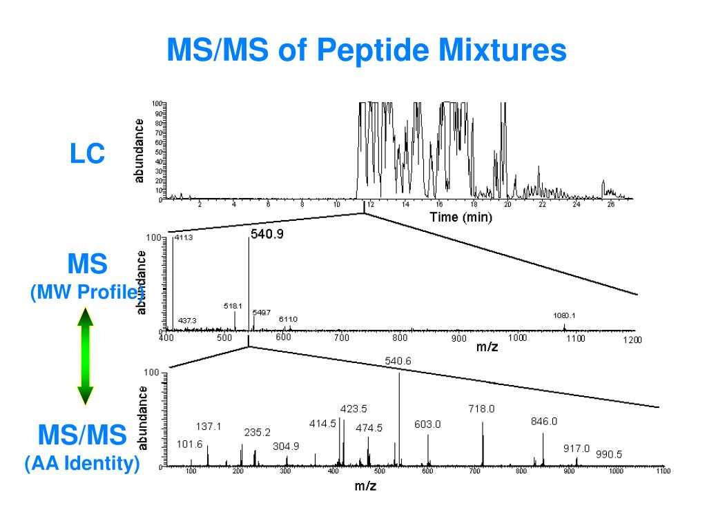 MS/MS of Peptide Mixtures