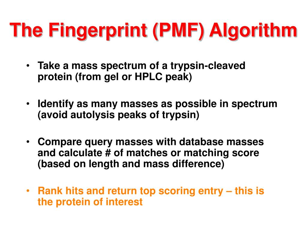 The Fingerprint (PMF) Algorithm