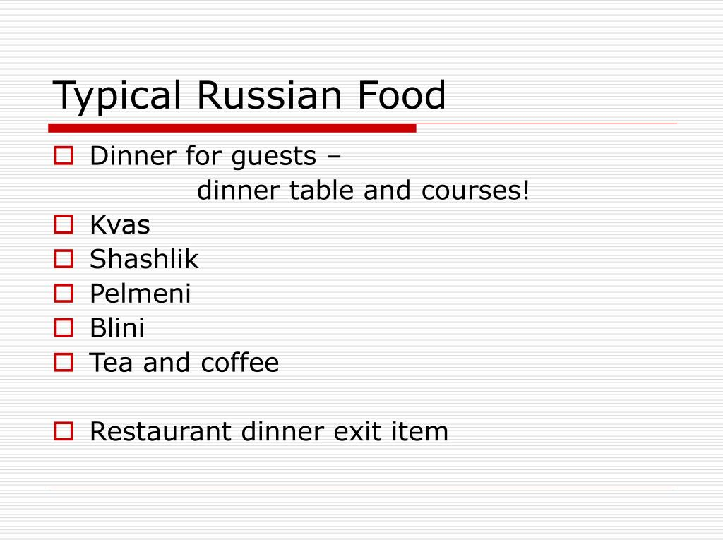 Typical Russian Food