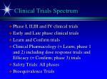 clinical trials spectrum