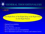 general thoughts values