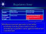 regulatory issue1