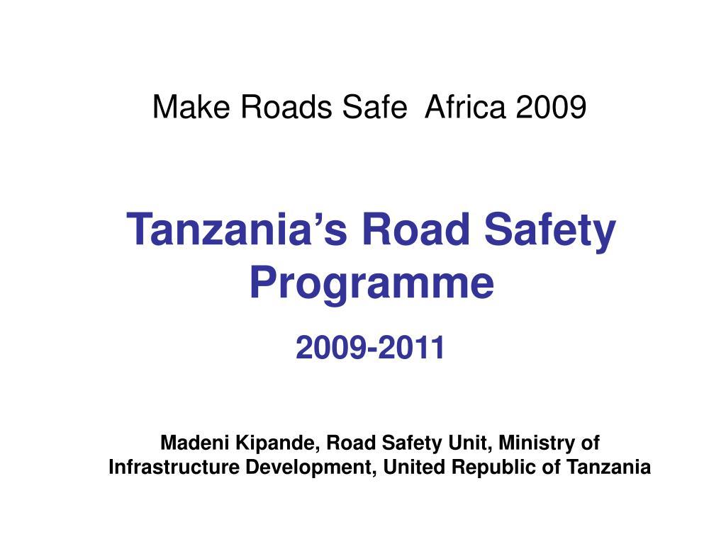 Make Roads Safe  Africa 2009