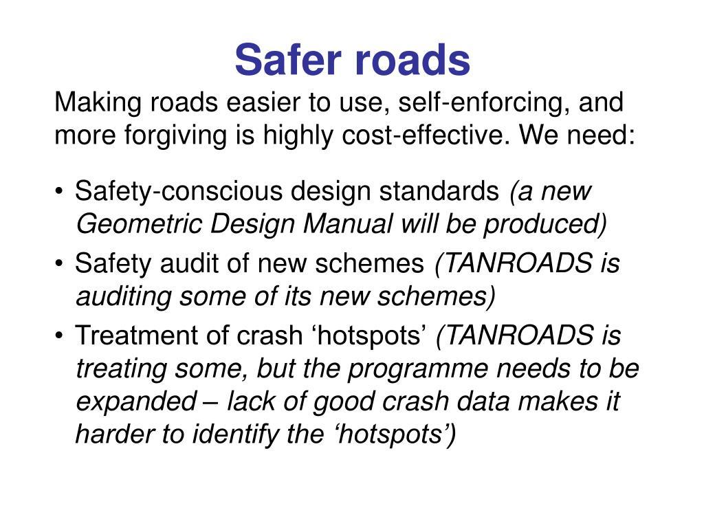 Safer roads