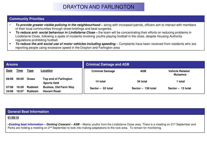 DRAYTON AND FARLINGTON